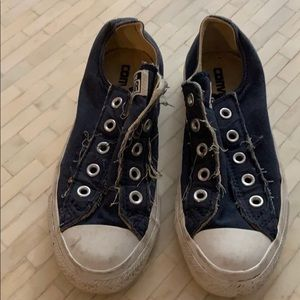 Converse Blue Slip Ons. Size 5